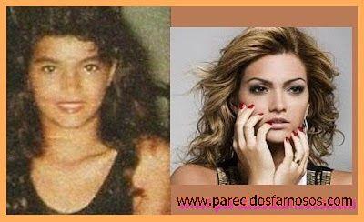 Parecidos con famosos: Kelly Key Cantante Brasileña antes y después