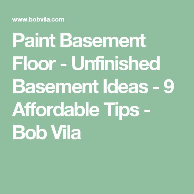 1000 Ideas About Basement Floor Paint On Pinterest: Best 25+ Painted Basement Floors Ideas On Pinterest