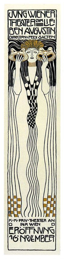 Poster for Felix Salzens Jung Wiener Theatre with Lieben Augustin by Koloman Moser, 1901
