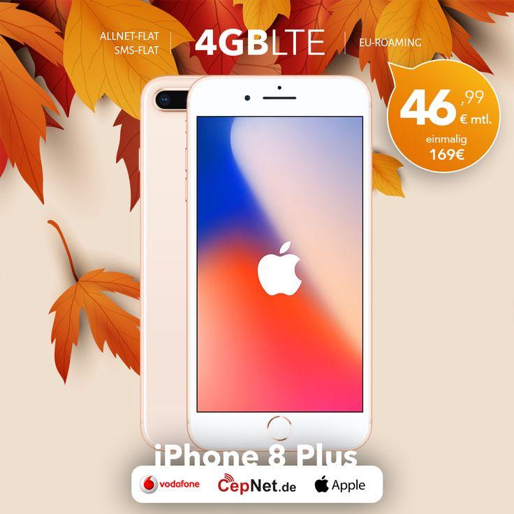 🔥🔥🔥 Apple iPhone 8 Plus 64GB Gold mit günstigem Vodafone Smart XL V.I.P. Vertrag.  👉👉  https://www.cepnet.de/smartphones/apple/iphone-8-plus/64gb-gold/vodafone/smart-xl-vip/?utm_source=cepnet_sosyal&utm_medium=sosyal&utm_campaign=iphone8plus&bid=faa    ✅Telefonie-Flat* in alle dt. Handy-Netze  ✅Telefonie-Flat* ins dt. Festnetz  ✅SMS-Flat* in alle dt. Handy-Netze  ✅Internet-Flat* 4 GB (LTE) mit bis zu 500 Mbit/s (danach Drosselung auf 32 kbit/s)  ✅EU-Roaming EU-Weit ohne Zusatzkosten…