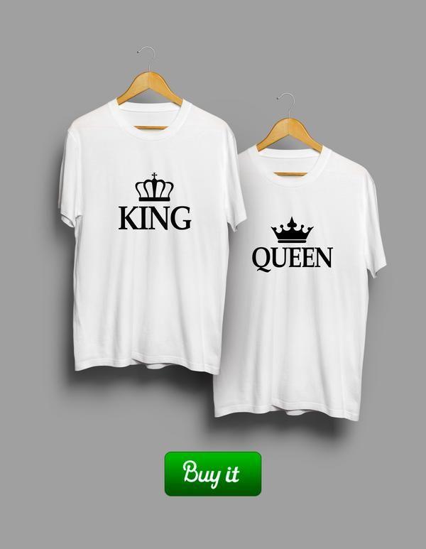 || Футболки не только сделают вас идеальной парой, они еще и принесут тотальную увенность в будущем и способность не оглядываться на прошлое. Предупреждаем, есть риск, что вам не захочется их снимать. #together #love #couple #husband #wife #forever #heart #любовь #girlfriend #boyfriend #Tshirt #любовь #пара #king #Queen
