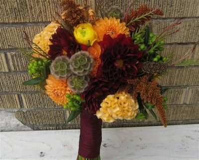 Bouquet de noiva outono