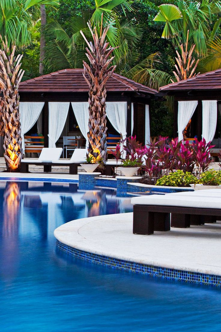 Bahia Beach, Puerto Rico  Nestled at the foot of the El Yunque rain forest, bordering the 5,000-acre Espíritu Santo River nature preserve, the family-friendly St. Regis brings you into the wild without veering too far from Old San Juan.  Top treatment: Relax post-hike at the Remède Spa with Queen Loiza's Royal Treatment: a body scrub plus a 24-karat-gold shimmer-oil massage.  stregisbahiabeach.com   - ELLE.com