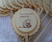 Winnie the Pooh  Cupcake Toppers / Food Picks Set of 12 Baked Goods Party