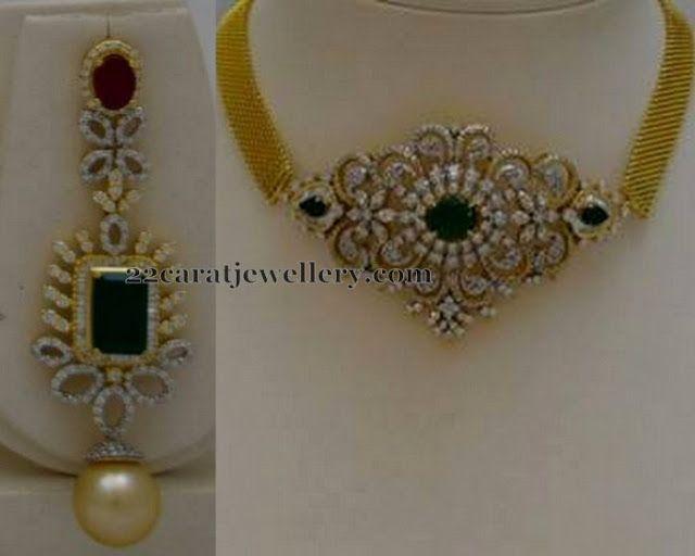Jewellery Designs: 2 in 1 Choker and Earrings