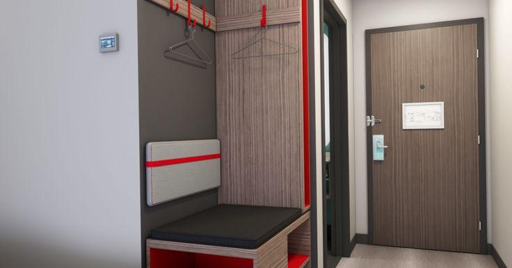 A look at creative hotel guestroom storage spaces