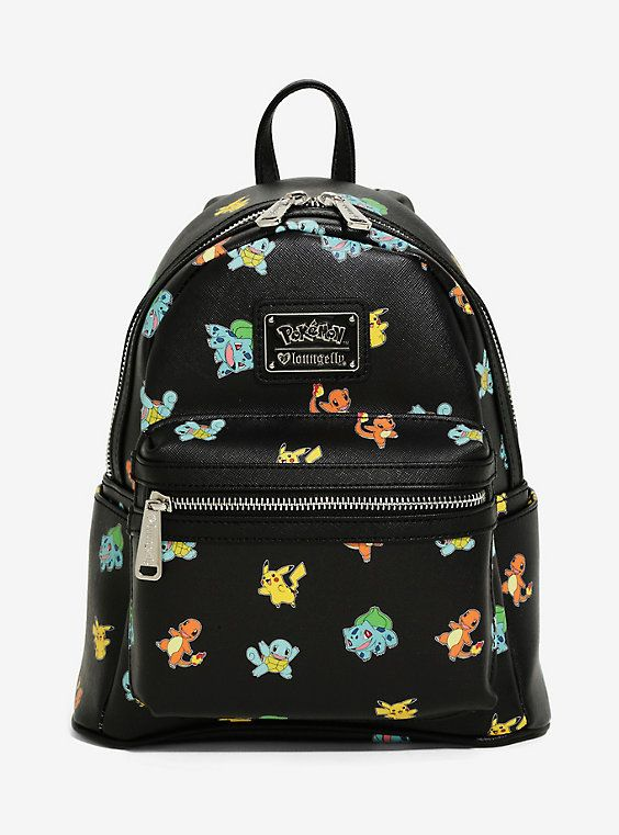 Loungefly Pokémon Starters Allover Print Mini Backpack  56953f084758a
