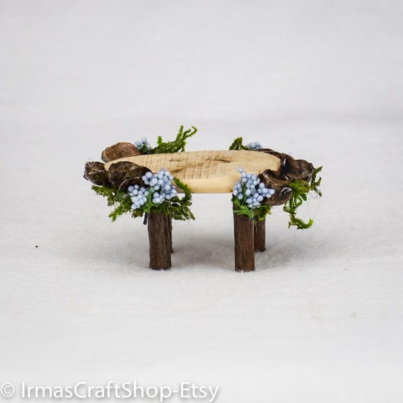 furniture fairy. Petite Fairy Garden Table, Twig Accessories, Faerie Item, Mini Furniture, Decor,Twig Furniture