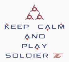 Overwatch - Keep Calm and Play Soldier 76 by Zurex