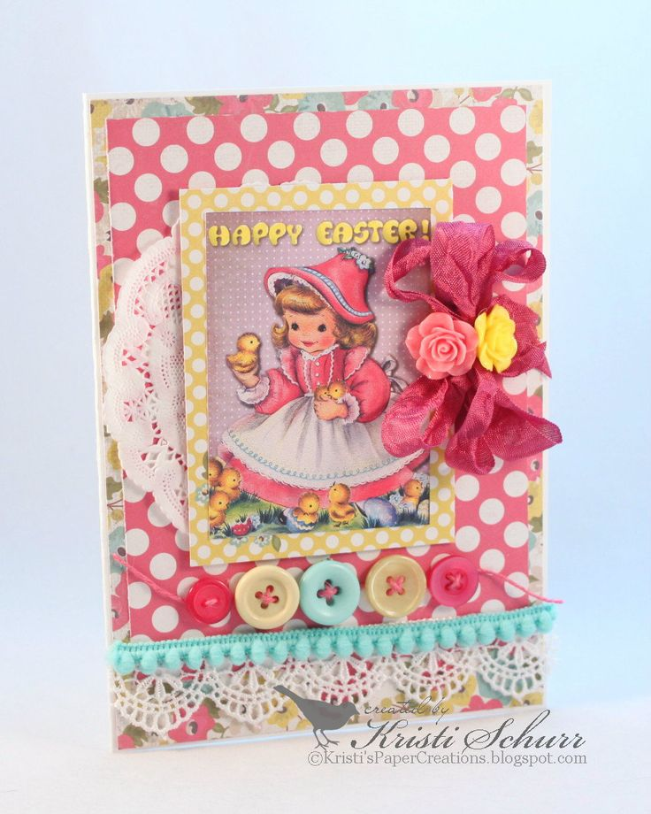 Kristi's Paper Creations: Retro Vintage Easter Cards