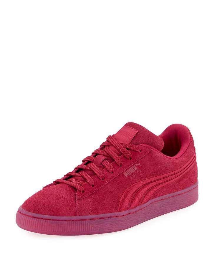 Puma Classic Badge Suede Sneaker, Red