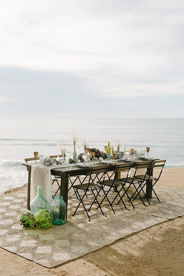 beach wedding - photo by John Schnack Photography http://ruffledblog.com/seaside-wedding-inspiration-shoot