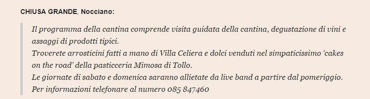 La Mimosa su Pescara Post http://www.pescarapost.it/cultura/cantine-aperte-2015-programma-provincia-pescara/