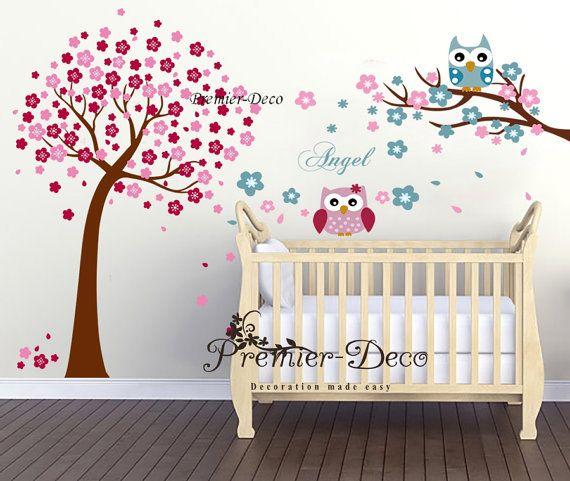 Grande flor de cerezo lindos buhos Angel redacción infantil
