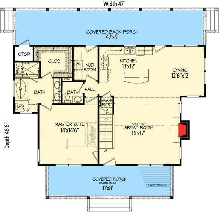 Lake house plans with two master suites for Master house plans