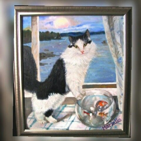 Tom Cat , oil on canvas