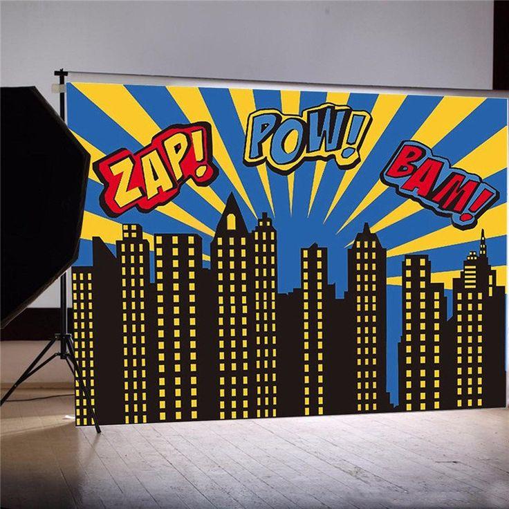 how to make a superhero cityscape backdrop
