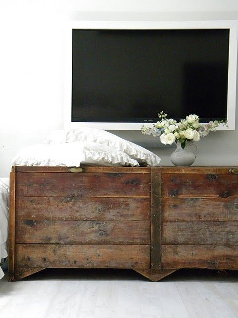 Rustic Tv Console Raw Wood Furniture Pinterest