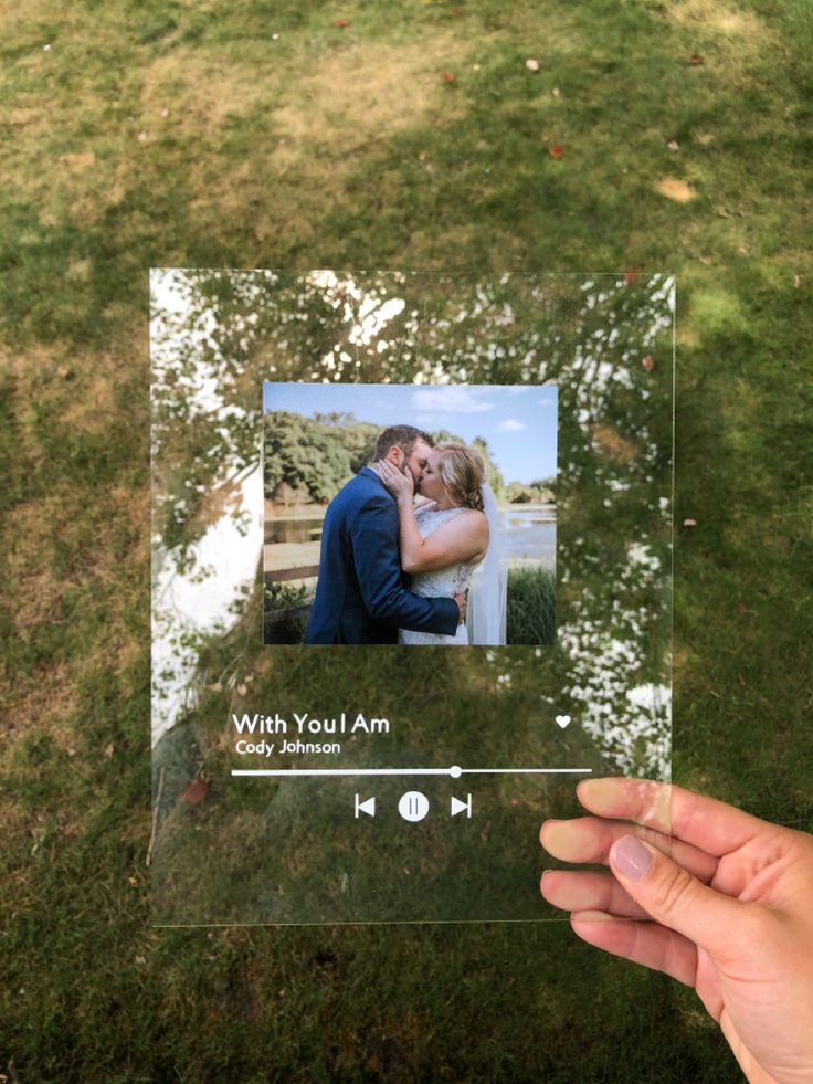 Custom Spotify Song and Picture 8x10 Glass / 8.5x11 inch