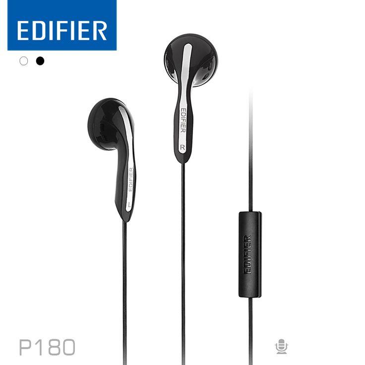 Edifier P180 HIFI Наушники Высокую Производительность Стерео Бас Наушники с Микрофоном Для Мобильного Телефона Tablet