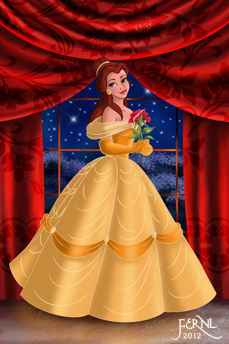 Belle Disney Princess Beauty The Beast Costume Gown Dress