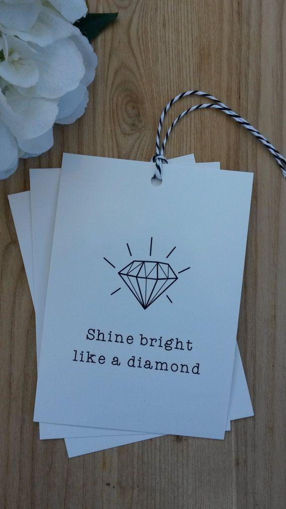 Jumbo GIFT TAG  Shine Bright Like a Diamond 3 by LuLaPaperGoods