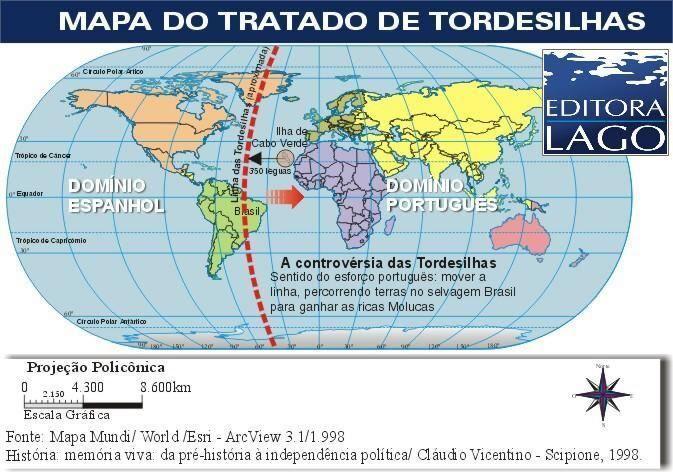 Tratado De Tordesilhas Historia Mapa E Brasil Tratado De