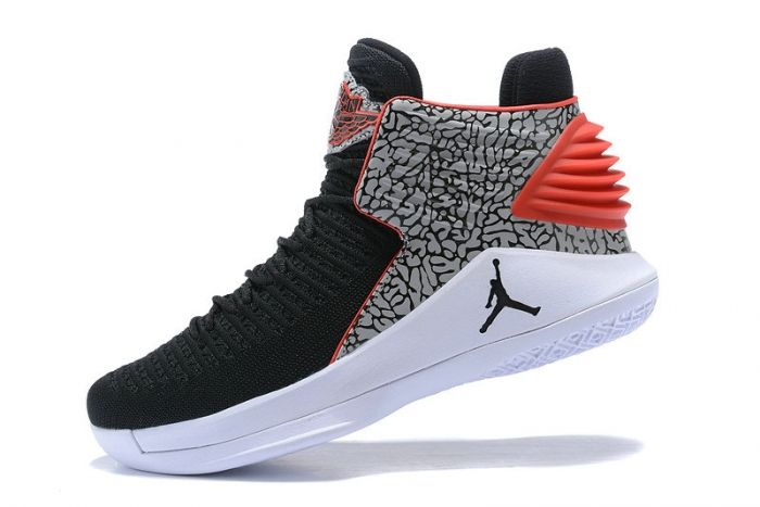 3fcb013c27e8 New Air Jordan XXXII PF AJ32 Black White Wolf Grey University Red ...