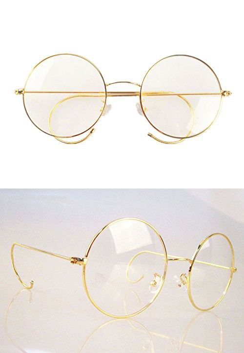 50679cd21d9 Agstum Retro Round Optical Rare Wire Rim Eyeglass Frame 53mm (X-Large size)  (Gold