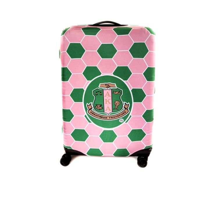 Alpha Kappa Alpha Sorority Logo Pink Green Large Luggage Cover