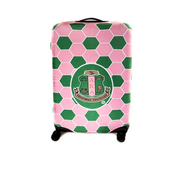 Alpha Kappa Alpha Sorority Logo Pink Green Large Luggage Cover