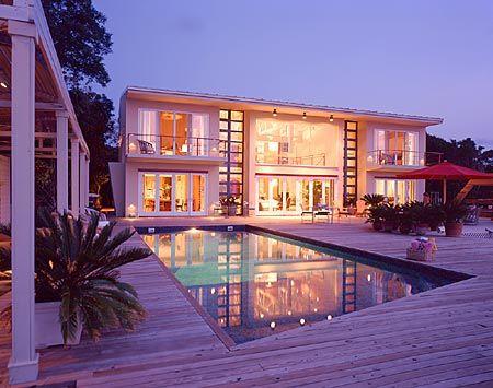 Sauna For Sale >> Huge Mansion On the Beach | Big Beach House: Fire Island, NY - Pool and deck — Bromley Caldari ...