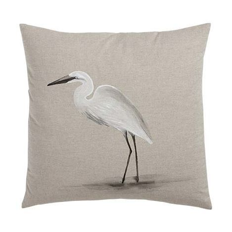 Hand-Painted Bird on Sand Pillow , , large