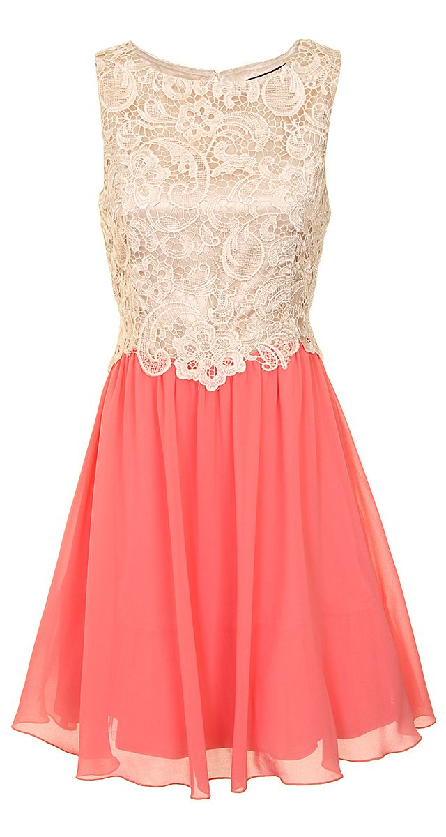 #Lace #Coral #Dress