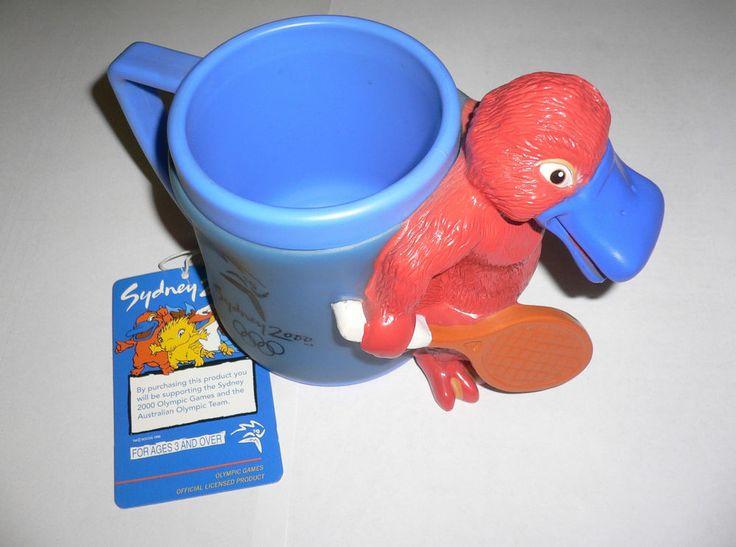 2000 Olympic Games Sydney Mascot SYD Tennis Plastic Coffee Cup/Mug with tags No2  | eBay