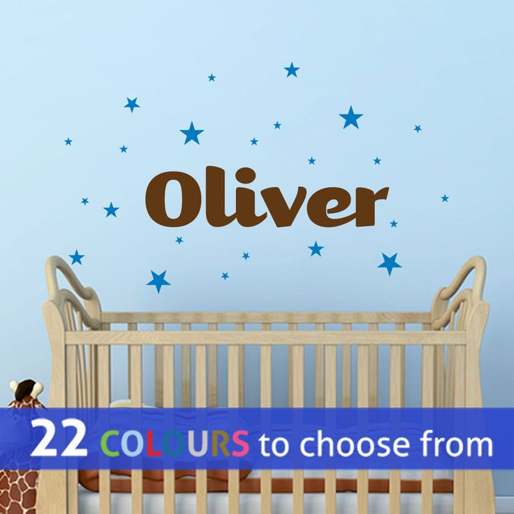 PERSONALISED Boys With Any CUSTOM Name, Wall Sticker Decal Art With Stars  Foru2026 Part 84