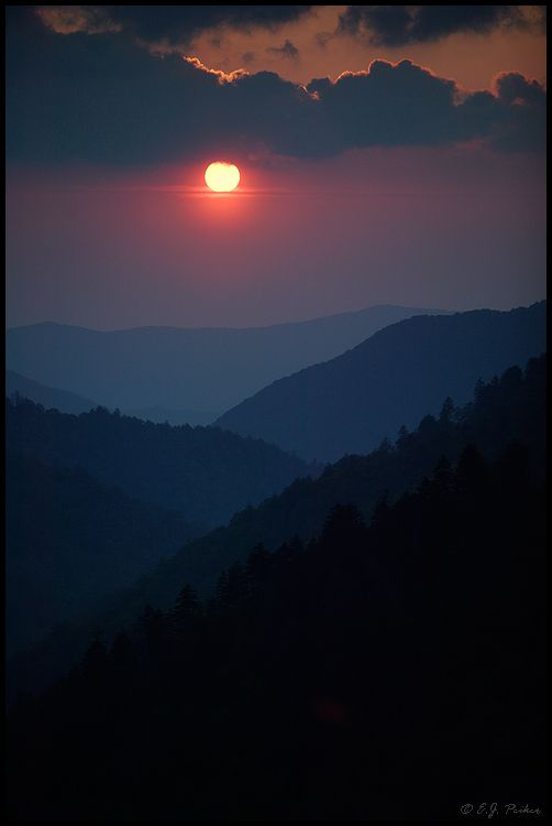 Smoky Mountains  When I lived in Knoxville, Tn., my favorite thing about the city was—It was only 45 minutes from the Great Smoky Mountains! :)  Love those mountains!