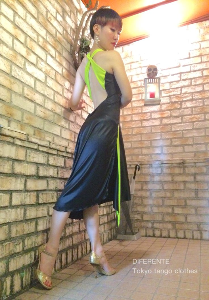 We made black tango dress for tango dancer Ms.Sumire. #tangodress