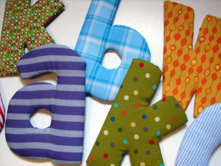 Making fabric letters, no sew