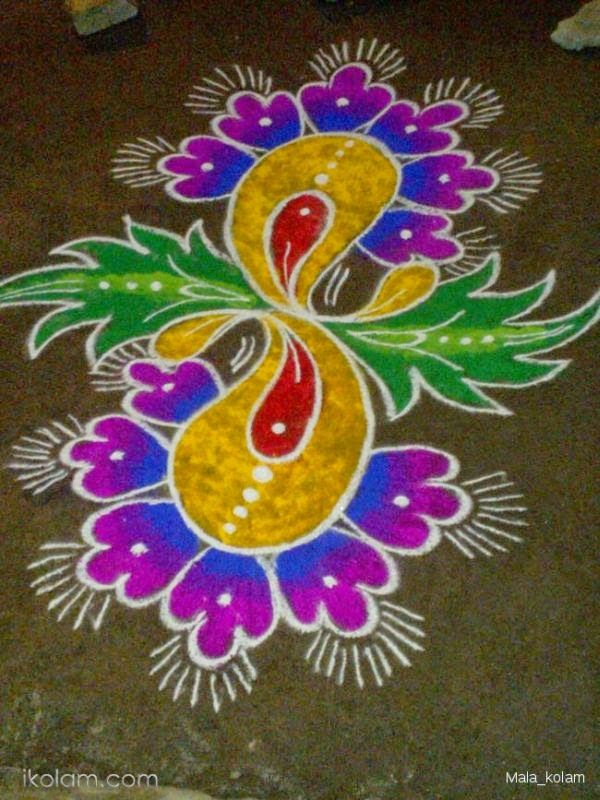 Happy Thai Pongal Rangoli Kolam Design Images Pictures Pattern 2015