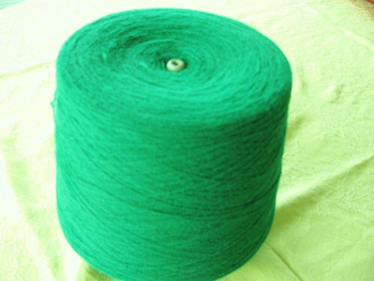 Kelly Green Acrylic Cone Yarn by stephaniesyarn on Etsy