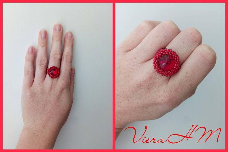 Nádherný prsten vytvořila paní Viera Jánošová