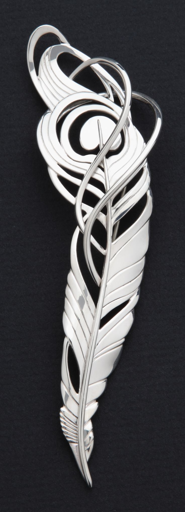 Sterling silver brooch. Copyright Robyn Nichols.