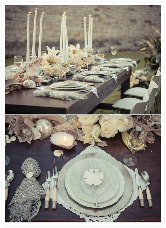 Shells and florals