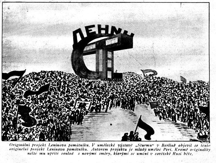 Originální projekt Leninova památníku