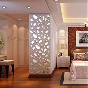 HLHN Creative 12PCS 3D Mirror Vinyl Removable Wallpaper Household Home Wall  Sticker Poster Acrylic Mural Decoration