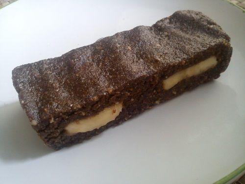 Кунжутно-шоколадная халва с бананом