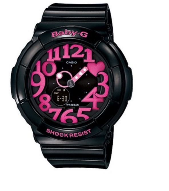 #Casio Baby G Shock Resist Digital Analog Womans Watch BGA-130-1B