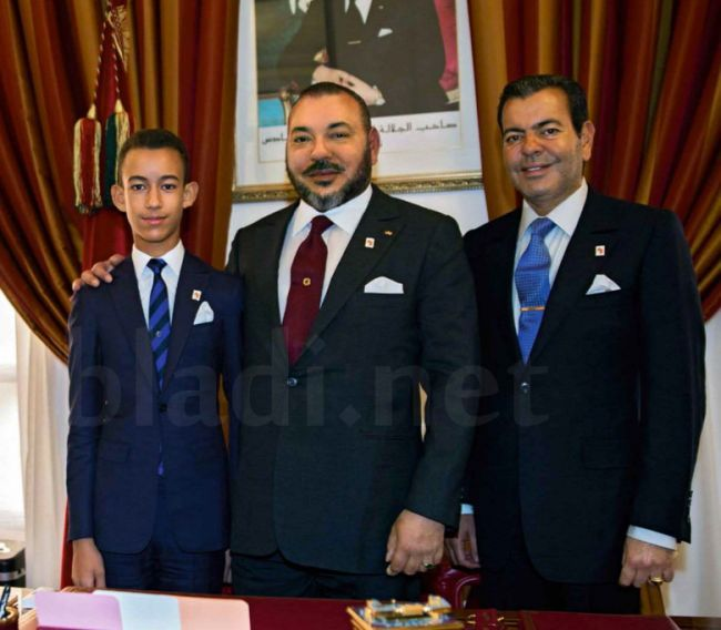 Photos inédites du roi Mohammed VI, Moulay Hassan et Moulay Rachid