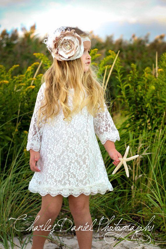 Chloe demoiselle robe bouquetière Ivoire robe par DLilesCollection